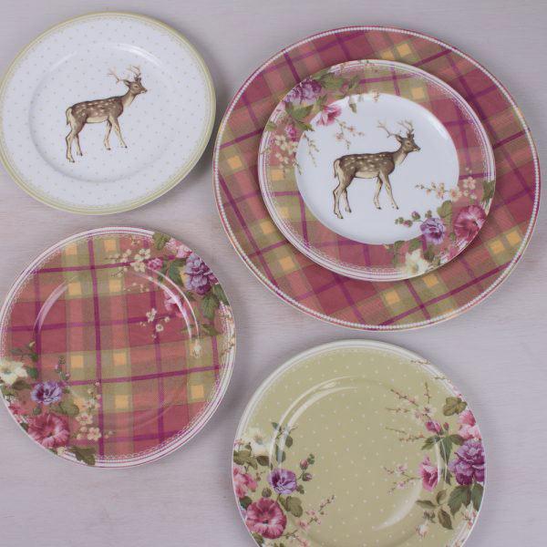 Highland Fling Tartan Floral Side Plate-320