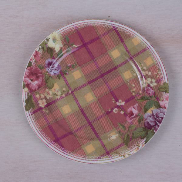 Highland Fling Tartan Floral Side Plate-0