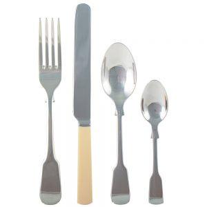 Faux Bone 16 Piece Cutlery Set