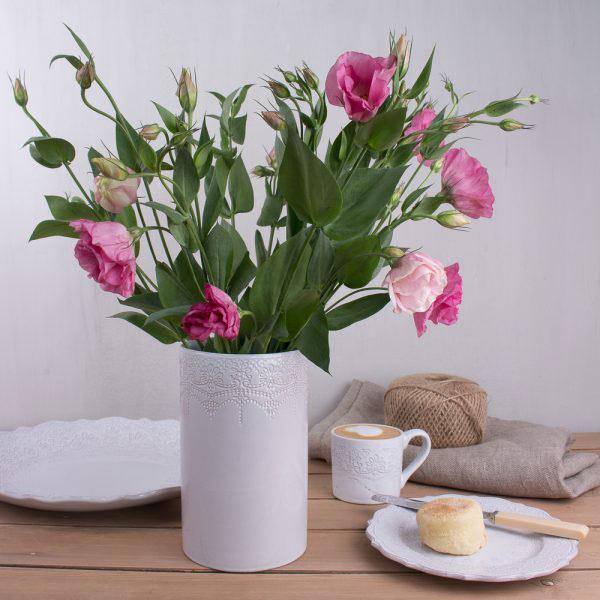 Rustic Lace Vase-585