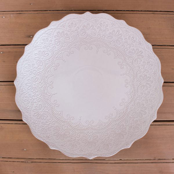 Rustic Lace Serve Plate