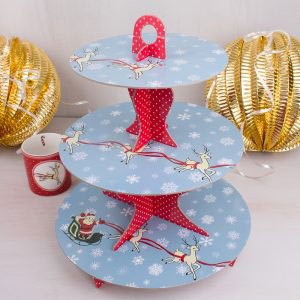 Yuletide Sleigh Ride Card Cake Stand