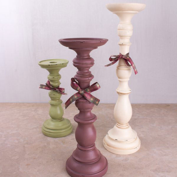 Two Medium Candle Stick Holders-908