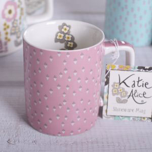 Pretty Retro Can Mug Pink-1034