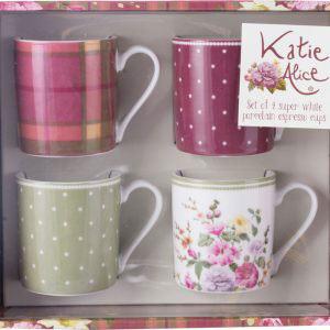 Highland Fling Set of 4 Espresso Cups-921