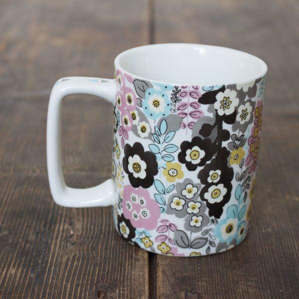 Pretty Retro Busy Floral Can Mug-949