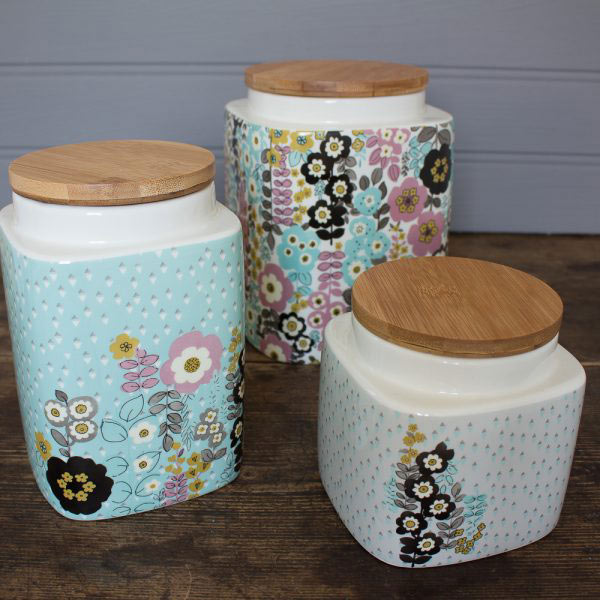 Pretty Retro Small Storage Jar-1007
