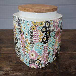 Pretty Retro Large Storage Jar-0