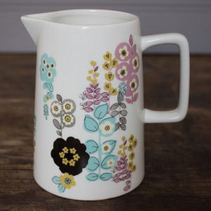 Pretty Retro Busy Floral Small Jug-0
