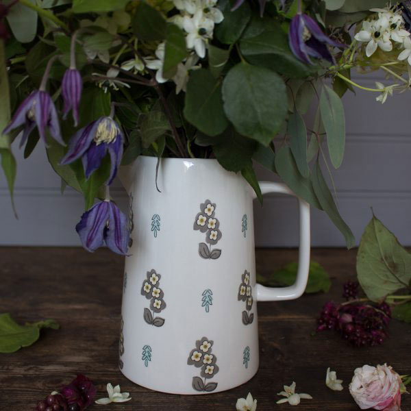 Pretty Retro Simple Floral Large Jug-961