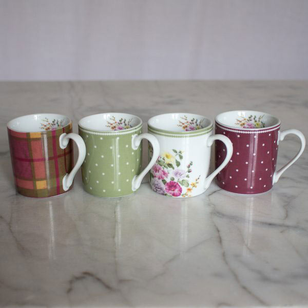 Highland Fling Set of 4 Espresso Cups-1301