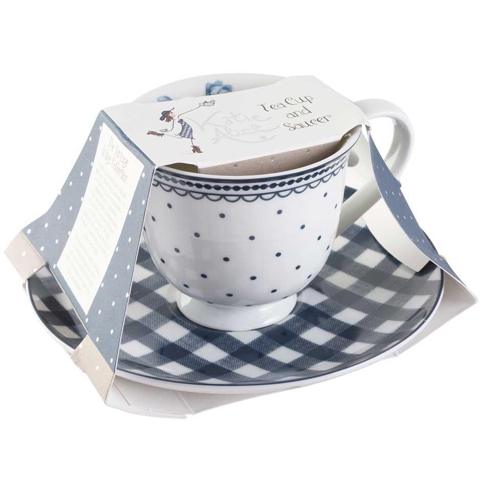 Vintage Indigo Spot Tea Cup Amp Saucer Katie Alice Katie