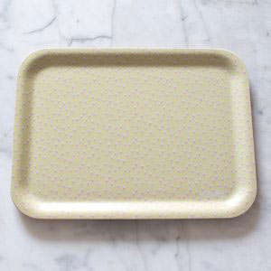 Pretty Retro Small Rectangle Birchwood Tray