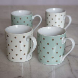 Cottage Flower Set Of 4 Espresso Cups