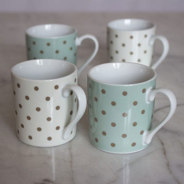 Cottage Flower Set Of 4 Espresso Cups
