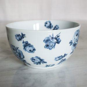 Vintage Indigo Floral Cereal Bowl