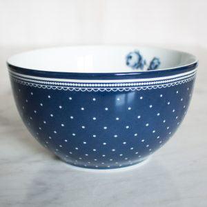 Vintage Indigo Spot Cereal Bowl