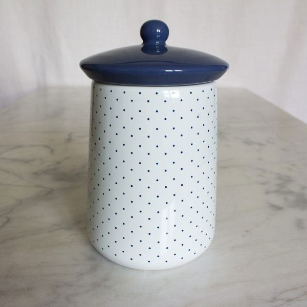 Vintage Indigo Ceramic Tea Jar