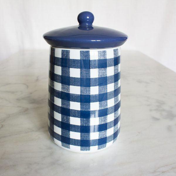 Vintage Indigo Ceramic Sugar Jar