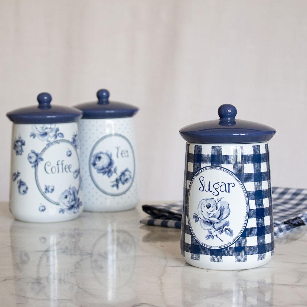 Vintage Indigo Ceramic Sugar Jar Katie Alice Katie Alice