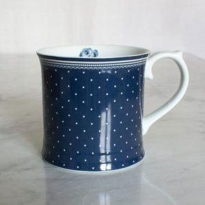 Vintage Indigo Spot Tankard Mug