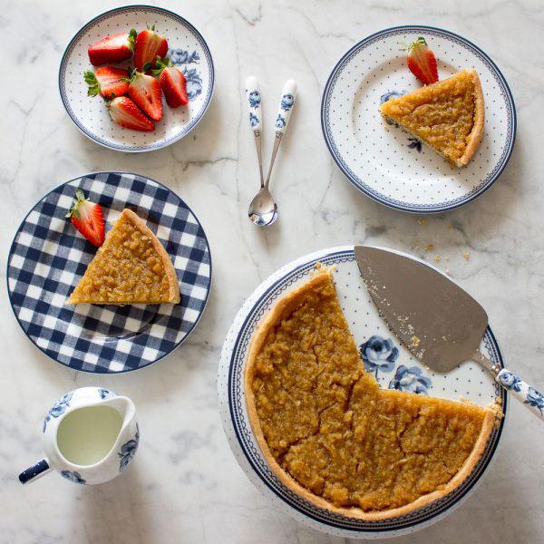 Vintage Indigo Cake Slice