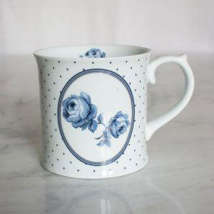 Vintage Indigo Floral Spot Tankard Mug