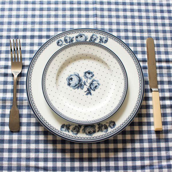 Vintage Indigo White Floral Side Plate