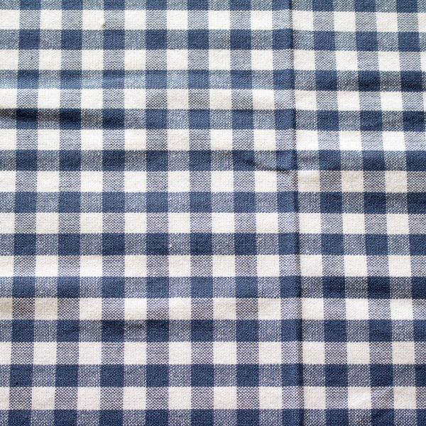 Vintage Indigo Cotton Tablecloth