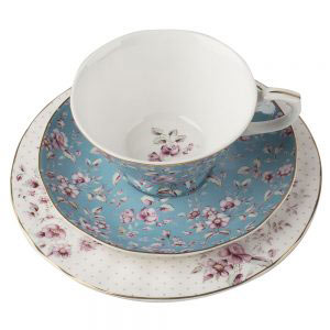 Ditsy Floral Teal Afternoon Tea Set-0