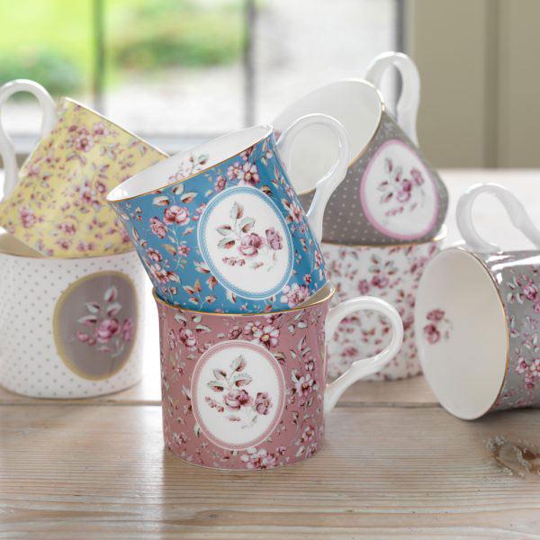 Ditsy Floral Pink Palace Mug-1474