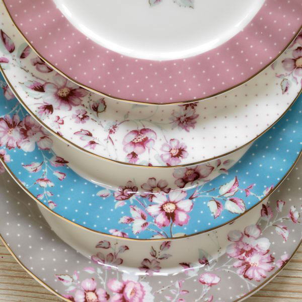 Ditsy Floral Grey Side Plate-1468