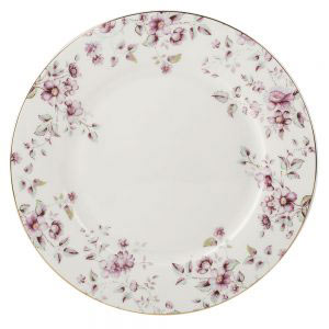 Ditsy Floral White Dinner Plate-0