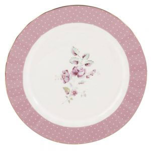 Ditsy Floral Pink Side Plate-0