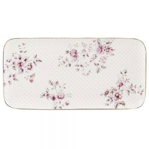 Ditsy Floral White Serve Plate-0