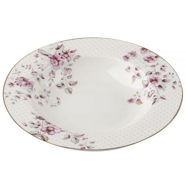 Ditsy Floral White Soup Plate-0
