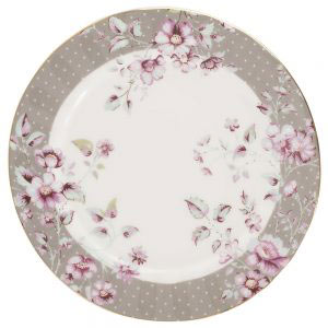 Ditsy Floral Grey Side Plate-0