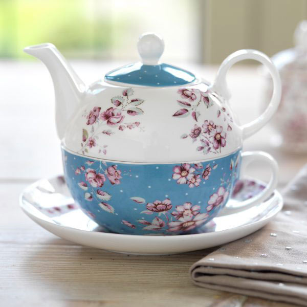 Ditsy Floral Tea For One with Saucer-1462