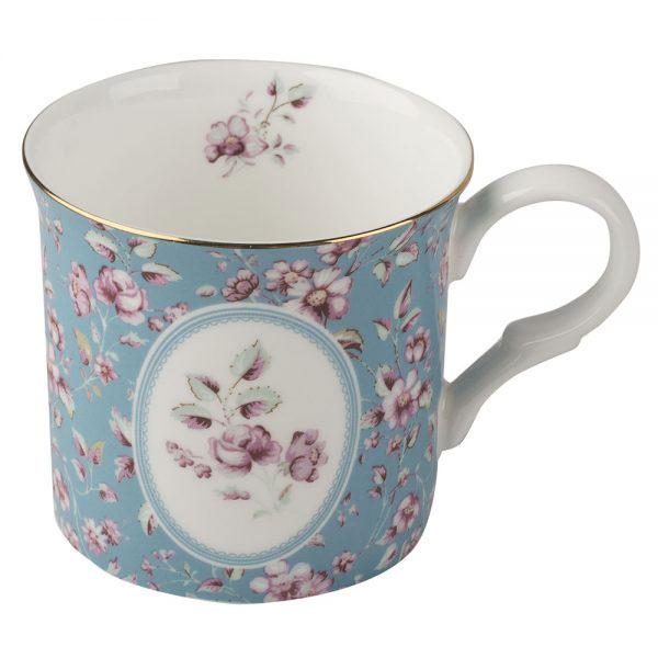Ditsy Floral Teal Palace Mug-0
