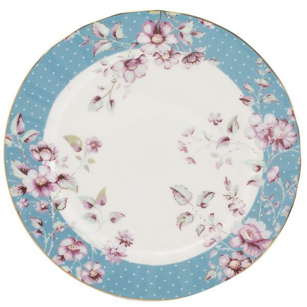 Ditsy Floral Teal Side Plate-0