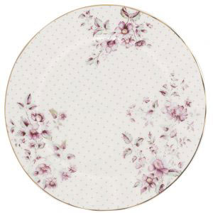 Ditsy Floral White Side Plate-0