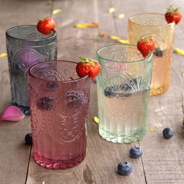 Pink Glass Tumbler-1425