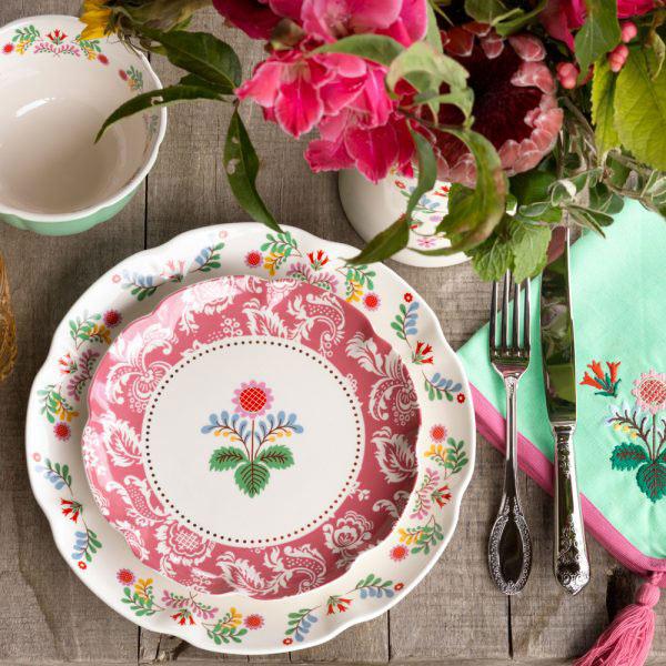 Festival Folk Pink Side Plate-1445