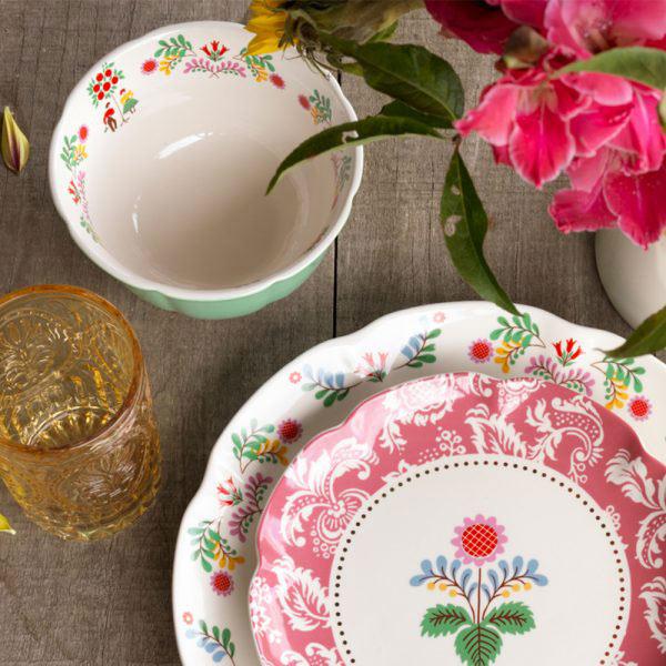 Festival Folk Pink Side Plate-1446