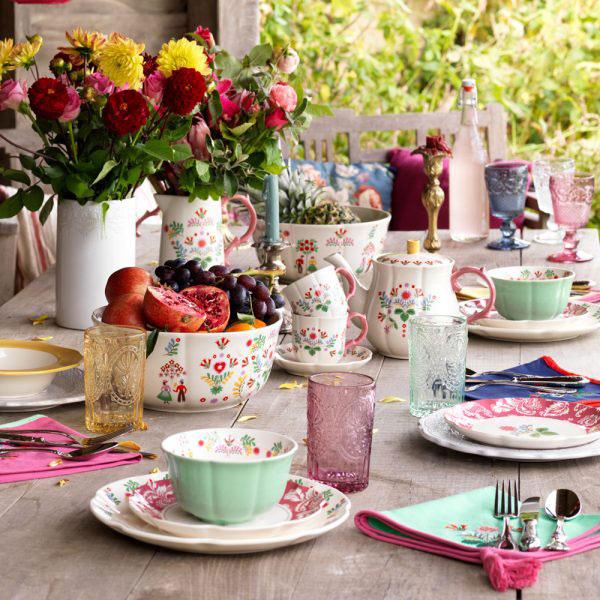 Festival Folk Breakfast Cup & Saucer-1407