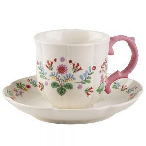 Festival Folk Breakfast Cup & Saucer-0