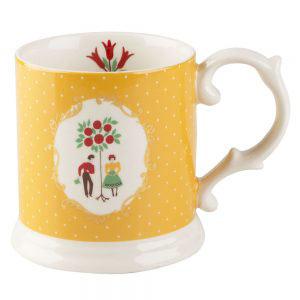 Festival Folk Yellow Tankard Mug-0