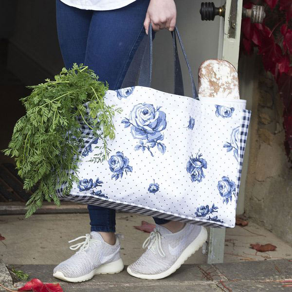 Vintage Indigo Canvas Bag-1374