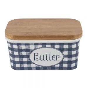Vintage Indigo Butter Dish-0