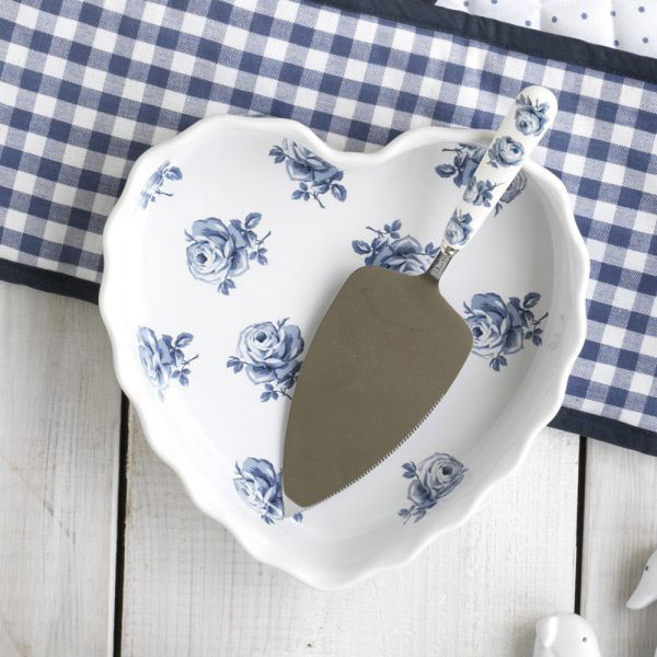 Vintage Indigo Heart Dish-1364